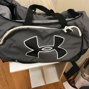 Under Armour duffel bag with high school monogram